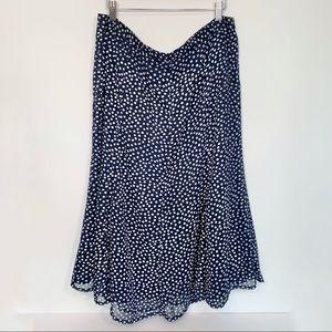 💐 Laura Blue Polka Dot Midi Skirt